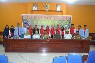 Camat Rupat besama Dosen dan Mahasiswa kukerta UR dan UIR